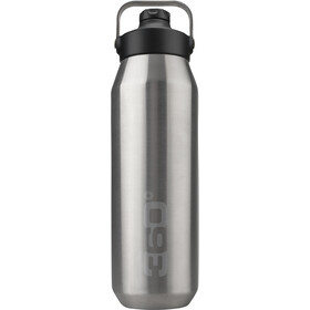 360° degrees Wide Mouth Geïsoleerde Drinkfles met Sipper Cap 1000ml, silver